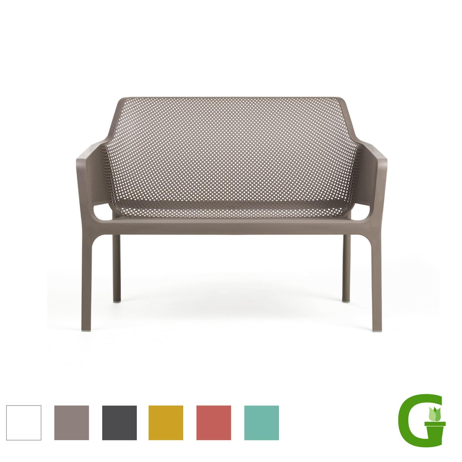 Details zu Nardi Net Gartenmöbel Set: Net Bench Bank, Net Relax Sessel und Net Tisch